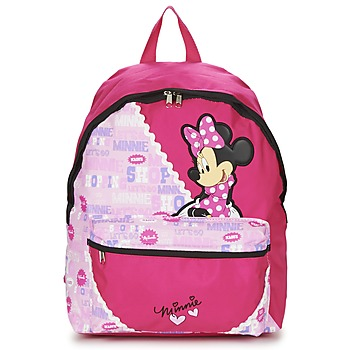 Malas Rapariga Mochila Disney MINNIE SCRATCH DOTS SAC A DOS BORNE Vermelho / Rosa