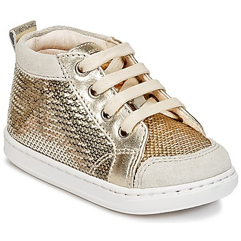 Sapatos Rapariga Sapatilhas de cano-alto Shoo Pom BOUBA NEW COVER Ouro
