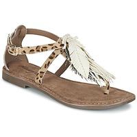 Sapatos Mulher Sandálias Metamorf'Ose ZABOUCHE Castanho / Branco