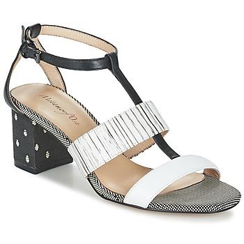 Sapatos Mulher Sandálias Metamorf'Ose ZAFNOLO Preto / Branco