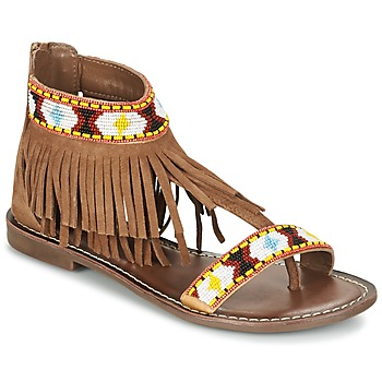Sapatos Mulher Sandálias Metamorf'Ose ZACCIN Castanho
