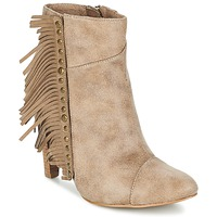 Sapatos Mulher Botins Les P'tites Bombes CECILIA Bege