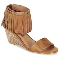 Sapatos Mulher Sandálias Les P'tites Bombes NADIA Camel