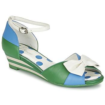 Sapatos Mulher Sandálias Lola Ramona LENNIE Azul / Verde