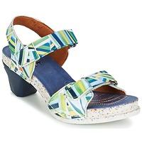Sapatos Mulher Sandálias Art I  ENJOY Azul / Verde