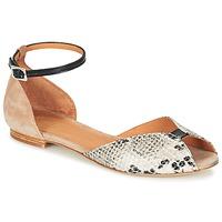 Sapatos Mulher Sandálias Emma Go JULIETTE Bege / Preto