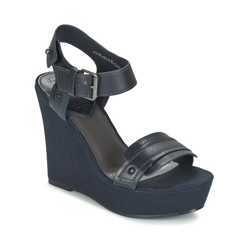 Sapatos Mulher Sandálias G-Star Raw CLARO WEDGE Marinho