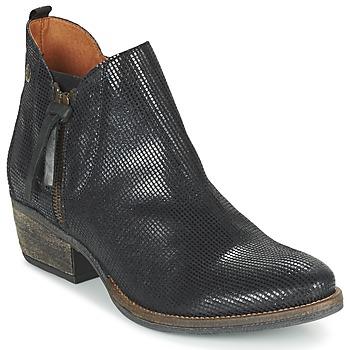 Sapatos Mulher Botas baixas Coqueterra LIZZY Preto