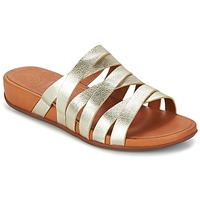 Sapatos Mulher Chinelos FitFlop LUMY LEATHER SLIDE Ouro