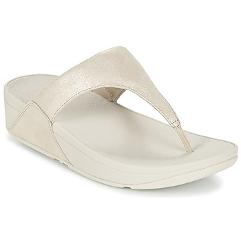 Sapatos Mulher Chinelos FitFlop SHIMMY SUEDE TOE-POST Ouro