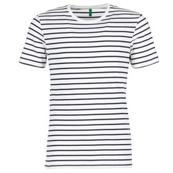 Textil Homem T-Shirt mangas curtas Benetton MAKOUL Azul / Branco