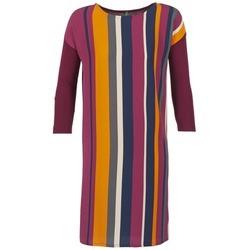 Textil Mulher Vestidos curtos Benetton VAGODA Bordô / Multicolor