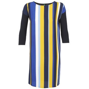 Textil Mulher Vestidos curtos Benetton VAGODA Azul / Amarelo / Branco