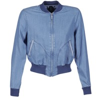 Textil Mulher casacos de ganga Benetton FERMANO Azul
