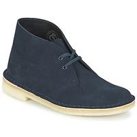 Sapatos Mulher Botas baixas Clarks DESERT BOOT Azul