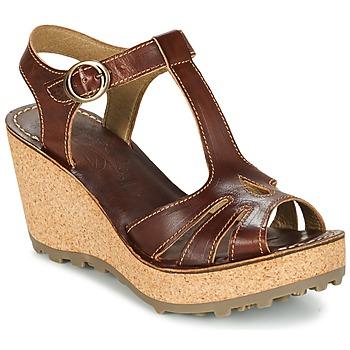 Sapatos Mulher Sandálias Fly London GOLDY Castanho