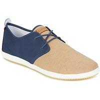 Sapatos Homem Sapatilhas Lafeyt MARTE SUMMER CHAMBRAY Marinho / Bege