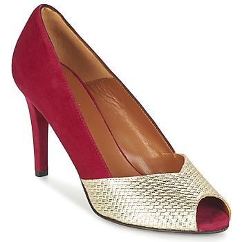Sapatos Mulher Escarpim Heyraud ELOISE Vermelho / Ouro