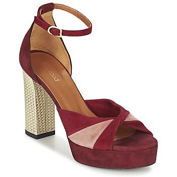 Sapatos Mulher Sandálias Heyraud EVELINE Vermelho / Rosa / Ouro