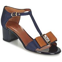 Sapatos Mulher Sandálias Heyraud ENAEL Azul / Castanho / Preto