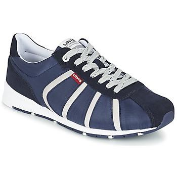 Sapatos Homem Sapatilhas Levi's ALMAYER II Marinho / Branco