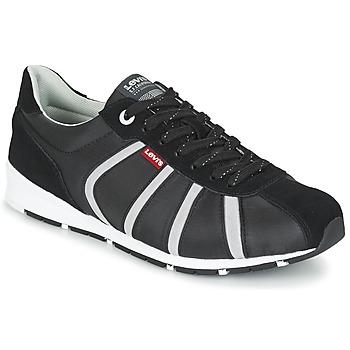 Sapatos Homem Sapatilhas Levi's ALMAYER II Preto / Branco