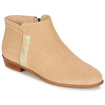 Sapatos Mulher Botas baixas M. Moustache EMMANUELLE Bege / Ouro