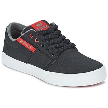 Sapatos Criança Sapatilhas Supra KIDS STACKS II VULC Preto / Vermelho