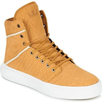 Sapatos Homem Sapatilhas de cano-alto Supra CAMINO Amarelo