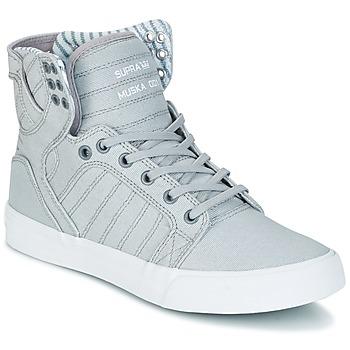 Sapatos Sapatilhas de cano-alto Supra SKYTOP Cinza