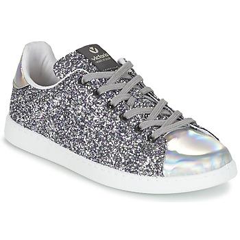 Sapatos Mulher Sapatilhas Victoria DEPORTIVO BASKET GLITTER Prata