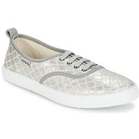 Sapatos Mulher Sapatilhas Victoria INGLES TEJ PLACA SERPIENTE Prata