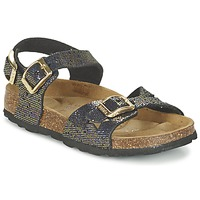 Sapatos Rapariga Sandálias Betula Original Betula Fussbett JEAN Preto / Ouro