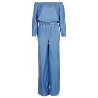 Textil Mulher Macacões/ Jardineiras MICHAEL Michael Kors TENCEL OFF SHDR JUMPSUIT Azul