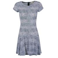 Textil Mulher Vestidos curtos MICHAEL Michael Kors ZEPHYR SS FLARE DRS Azul / Branco