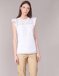 Textil Mulher Tops / Blusas MICHAEL Michael Kors COMBO EYELET S/S Branco