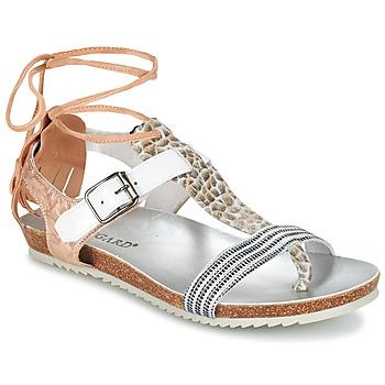 Sapatos Mulher Sandálias Regard RABALU Branco / Bege / Serpente