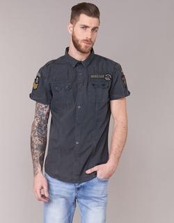 Textil Homem Camisas mangas curtas Deeluxe BURTY Cinza