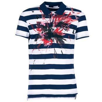 Textil Homem Polos mangas curta Desigual RELIRA Branco / Marinho / Vermelho