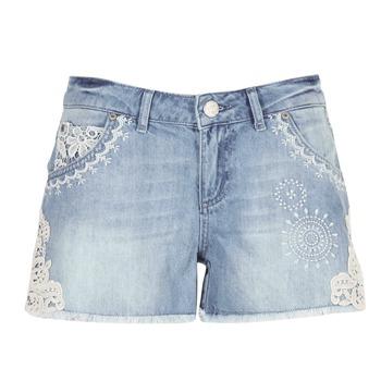 Textil Mulher Shorts / Bermudas Desigual MARTESSA Azul