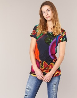 Textil Mulher T-Shirt mangas curtas Desigual GRIZELLO Multicolor