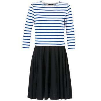 Textil Mulher Vestidos curtos Petit Bateau FINALLY Branco / Azul