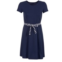 Textil Mulher Vestidos curtos Petit Bateau FLARE Marinho