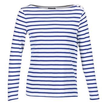 Textil Mulher T-shirt mangas compridas Petit Bateau FIX Branco / Azul
