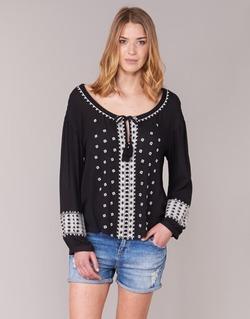 Textil Mulher Tops / Blusas See U Soon 7117029 Preto