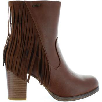 Sapatos Mulher Botas MTNG 52859 Marr?n