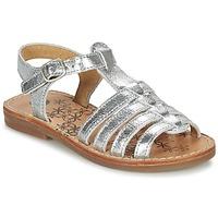 Sapatos Rapariga Sandálias Babybotte YLONA Prata