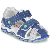 Sapatos Rapaz Sandálias Babybotte KARTER Azul / Verde / Cinza