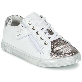 Sapatos Rapaz Sapatilhas Babybotte KRAZY Branco / Prata