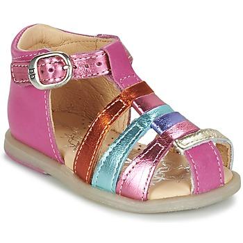 Sapatos Rapariga Sabrinas Babybotte TIKALOU Rosa / Multicolor